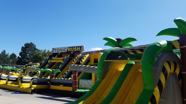 lost island outdoor inflatable park